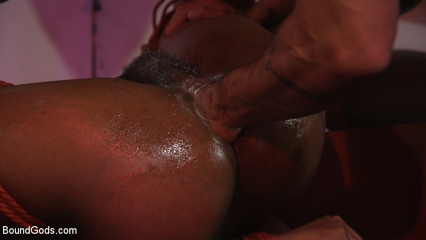 New meat Alson Caramel fisted and fucked for HustlaBall! - rimming