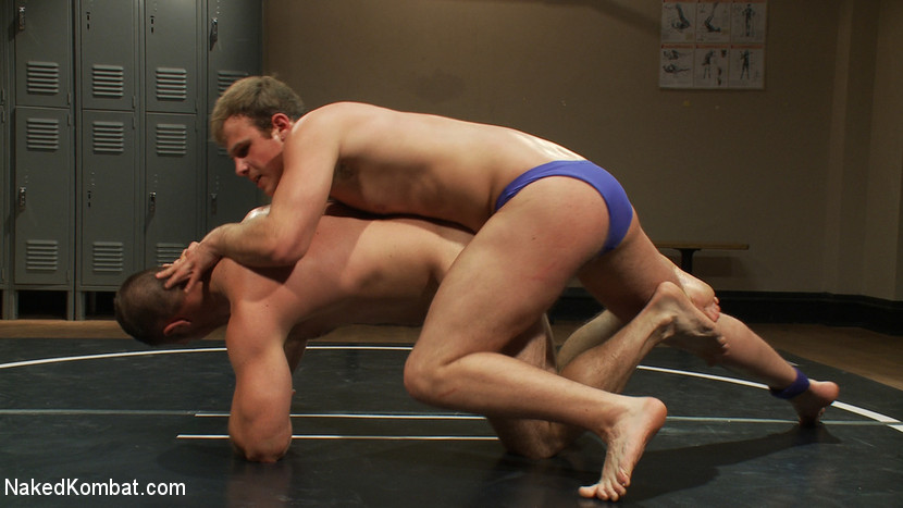 Muscled hunks duke it out in the gym, loser takes it in the ass! - Hairy