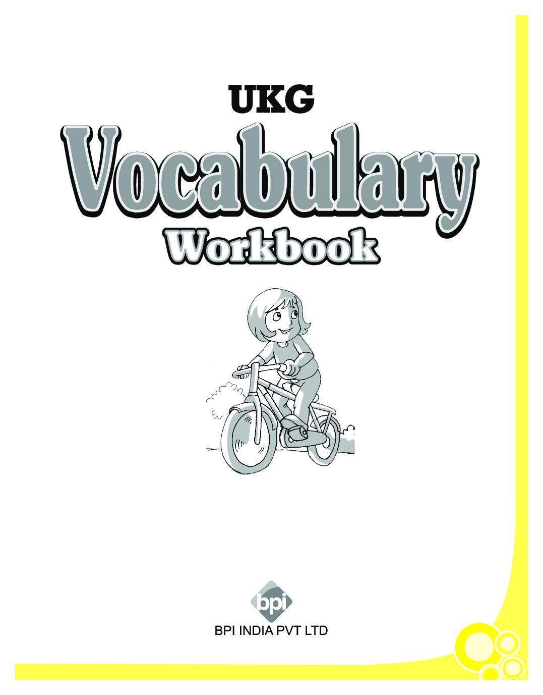 Download Ukg Vocabulary Workbook By Bpi Online