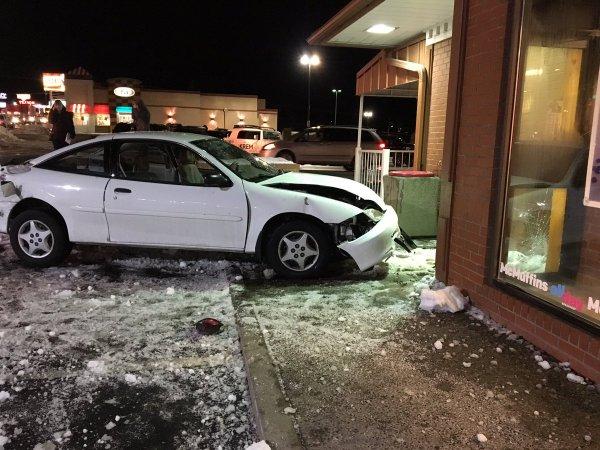 Car hits McDonalds on South Hill | KREM.com