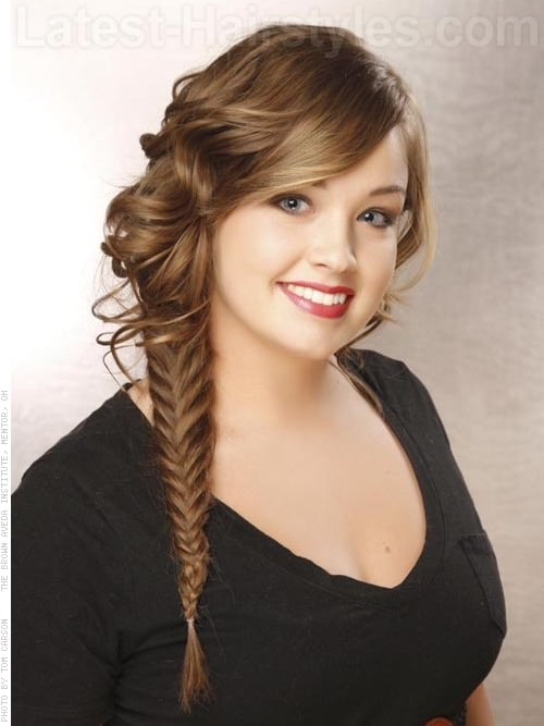 Wavy Fish Tail Braid For School