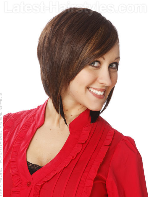 The Skinny Tapered Layered Bob Look Side View