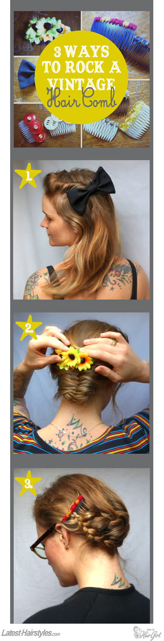 The 3 Hottest Ways to Rock a Vintage Hair Comb