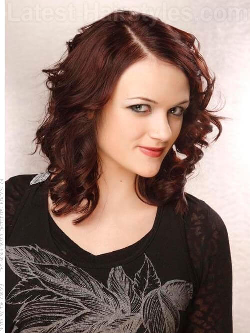 Midnight Melody Deep Red Brown Hair Side View