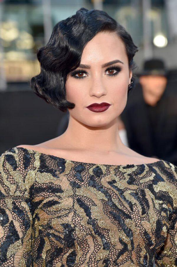 The Best American Music Awards Hairstyles - Demi Lovato