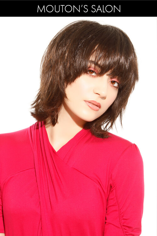 Short Hairstyle for Winter with Bangs