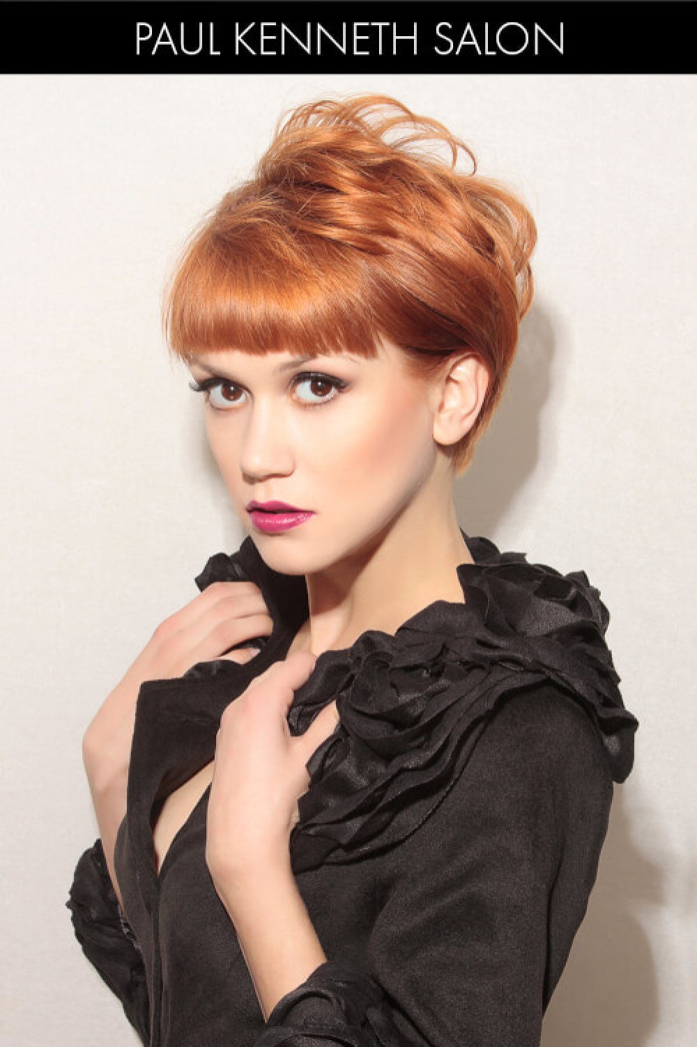 Short Hairstyle with Blunt Fringe