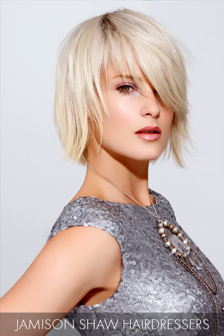 Here's a sexy look that teases the senses with whimsical strands