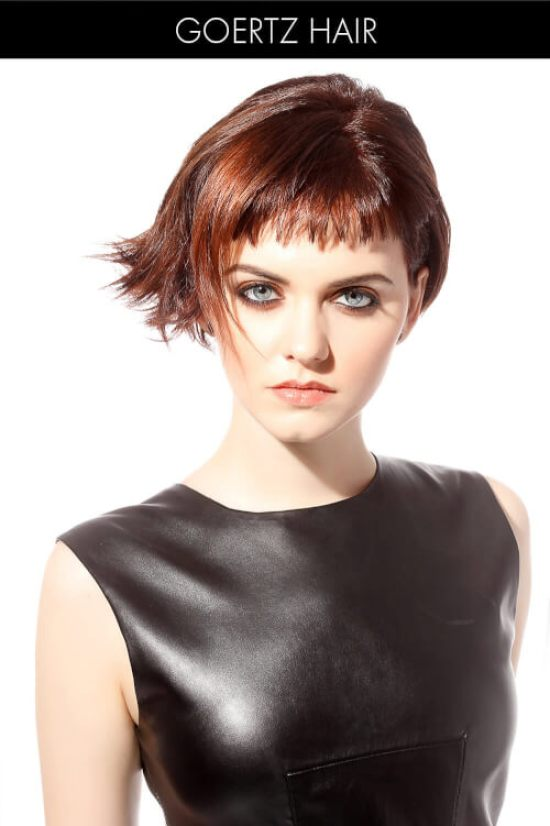 Short Hairstyle with Baby Bangs and Texture