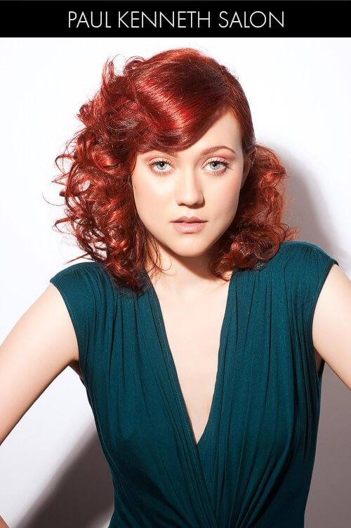 Bright Red Hair Color for Spring