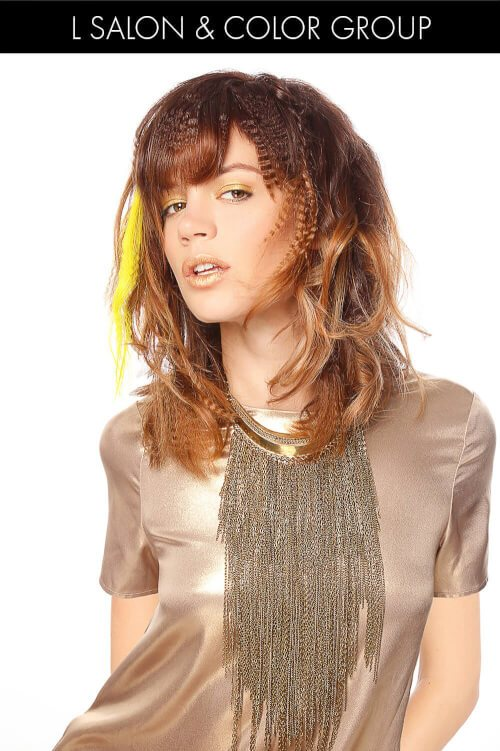 Ombre Hair Color for Spring with Crimps