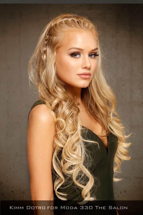 Long Hairstyle with Braid and Waves