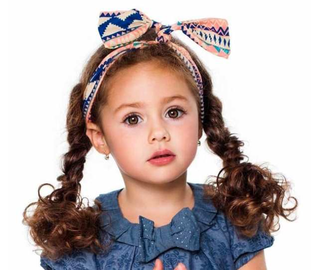 Easy Hairstyles For Girls With Curly Hair Little Girls Toddlers In