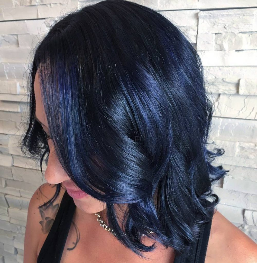 37 Coolest Blue Black Hair Shades Of 2018