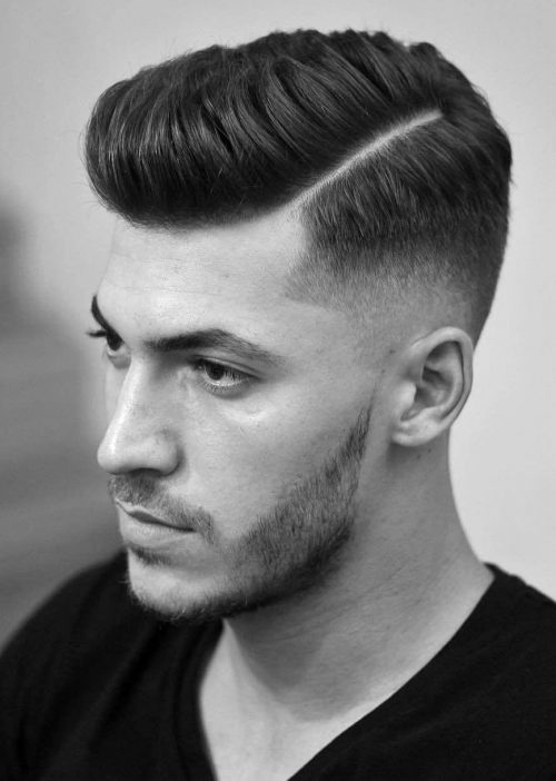 Parted Undercut Hairstyles Men