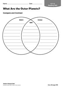 What Are the Outer Planets 5th 8th Grade Worksheet