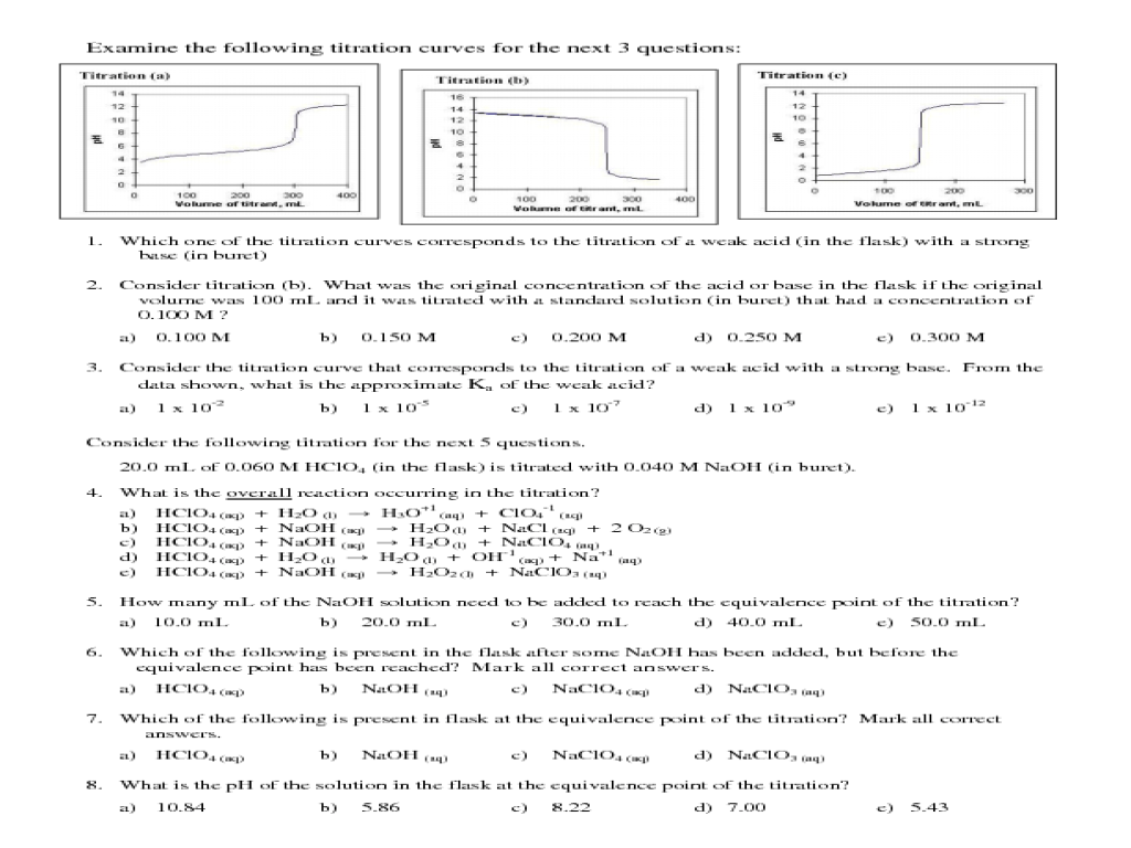 Chemistry Homework Problem Titration
