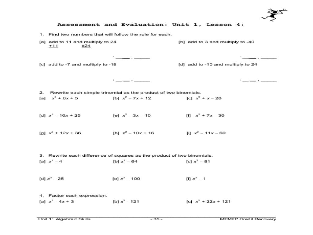 Worksheets Trinomial Factoring Worksheet factoring trinomials a 1 worksheet answers free worksheets library f ct g d ference of squ res w ksheet ksheets libr ry