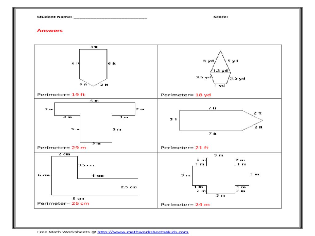 Area Irregular Shapes Worksheet - wiildcreative