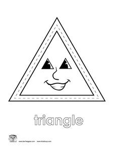 triangle coloring page # 18