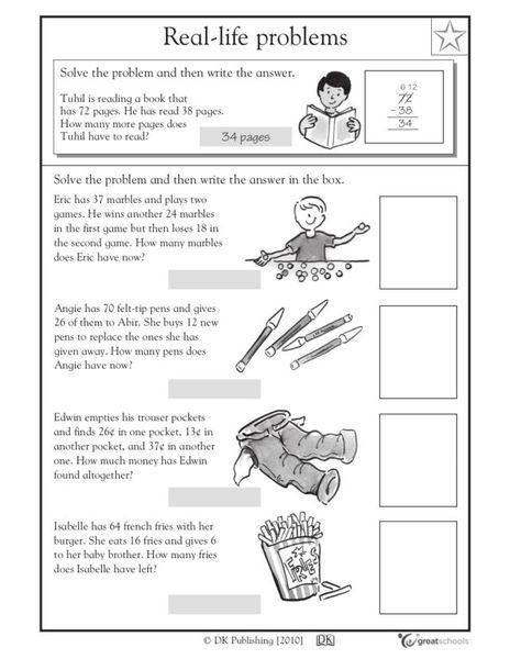 Word Problem Worksheets 2nd Grade