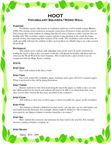 Vocabulary Lesson Plans Worksheets Reviewed by Teachers