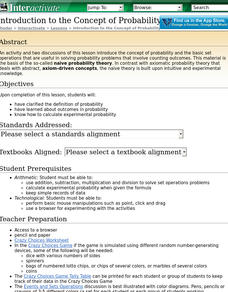 Probability Theory Lesson Plans & Worksheets | Lesson Planet