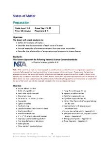 Matter Lesson Plans Worksheets Reviewed by Teachers