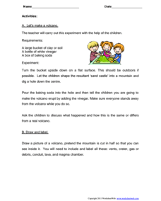 Volcanoes Lesson Plans Worksheets Reviewed by Teachers