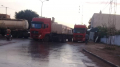 شاحنات تغلق الطريق الرابطة بين بنزرت ومنزل بورڨيبة
