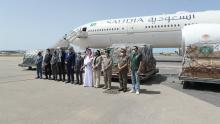 وصول طائرة سعودية محمّلة بدفعة جديدة من المساعدات