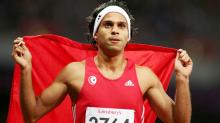 سباق 400 متر: محمد فرحات شيدة بفوز بالفضية