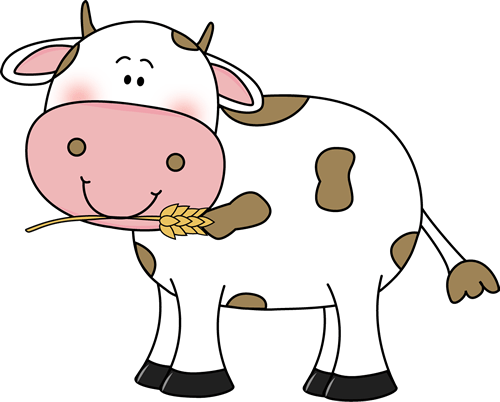 Cow with Wheat in its Mouth