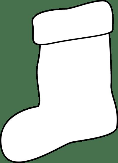 Black And White Stocking Clip Art Black And White