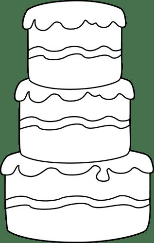 Cake White And Black Decorating Clip Art