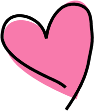 Funky Pink Heart