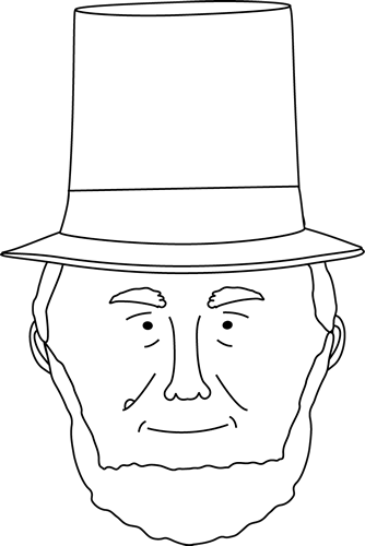 abraham lincoln top hat template