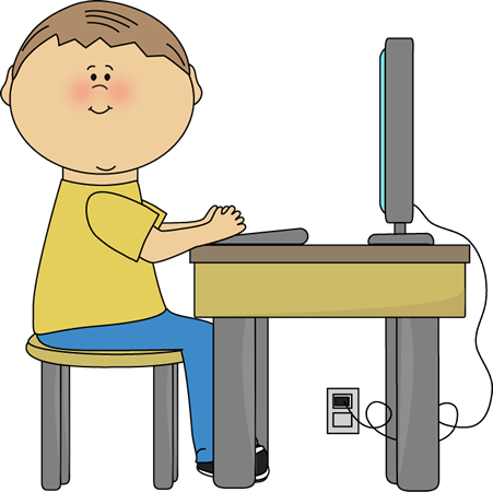 Student Using Computer