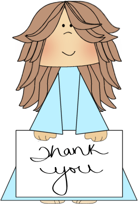 Girl Holding a Thank You Sign