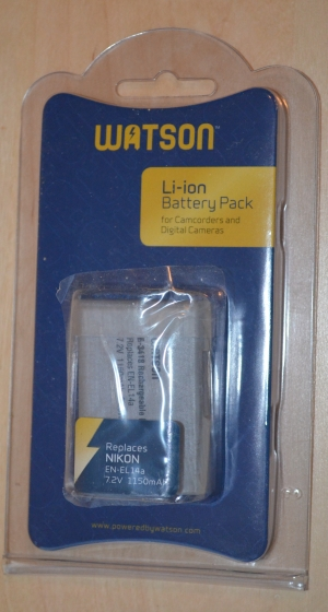 Front of Watson EN EL-EL14A Battery in Package