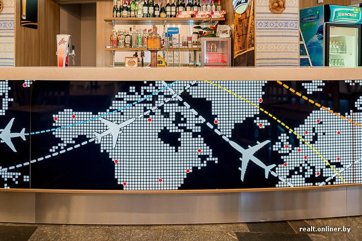 spotting bar à l'Aéropot National Minsk au Bélarus carte des vols