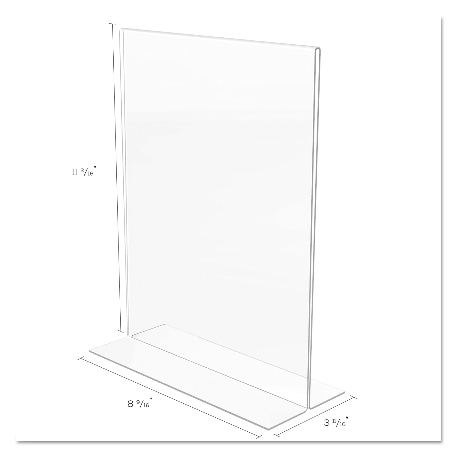 Classic Image Double Sided Sign Holder 8 1 2 X 11 Insert