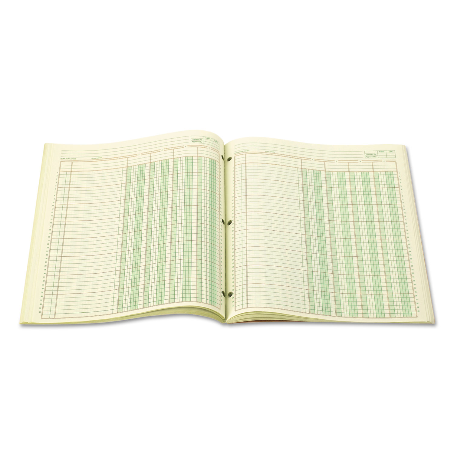 Accounting Pad Four Eight Unit Columns Two Sided Letter 50 Sheet Pad