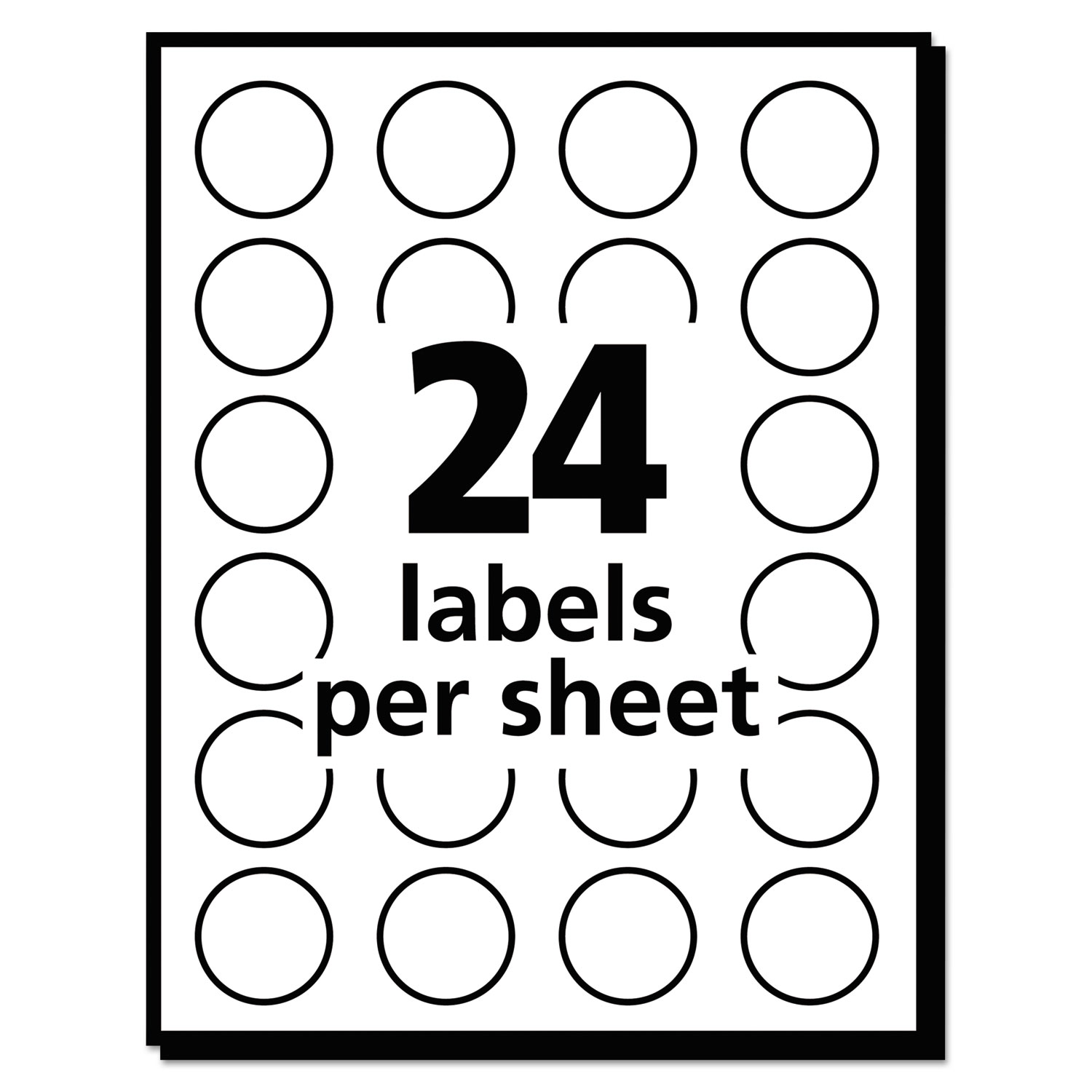 Printable Removable Color Coding Labels 3 4 Dia Neon