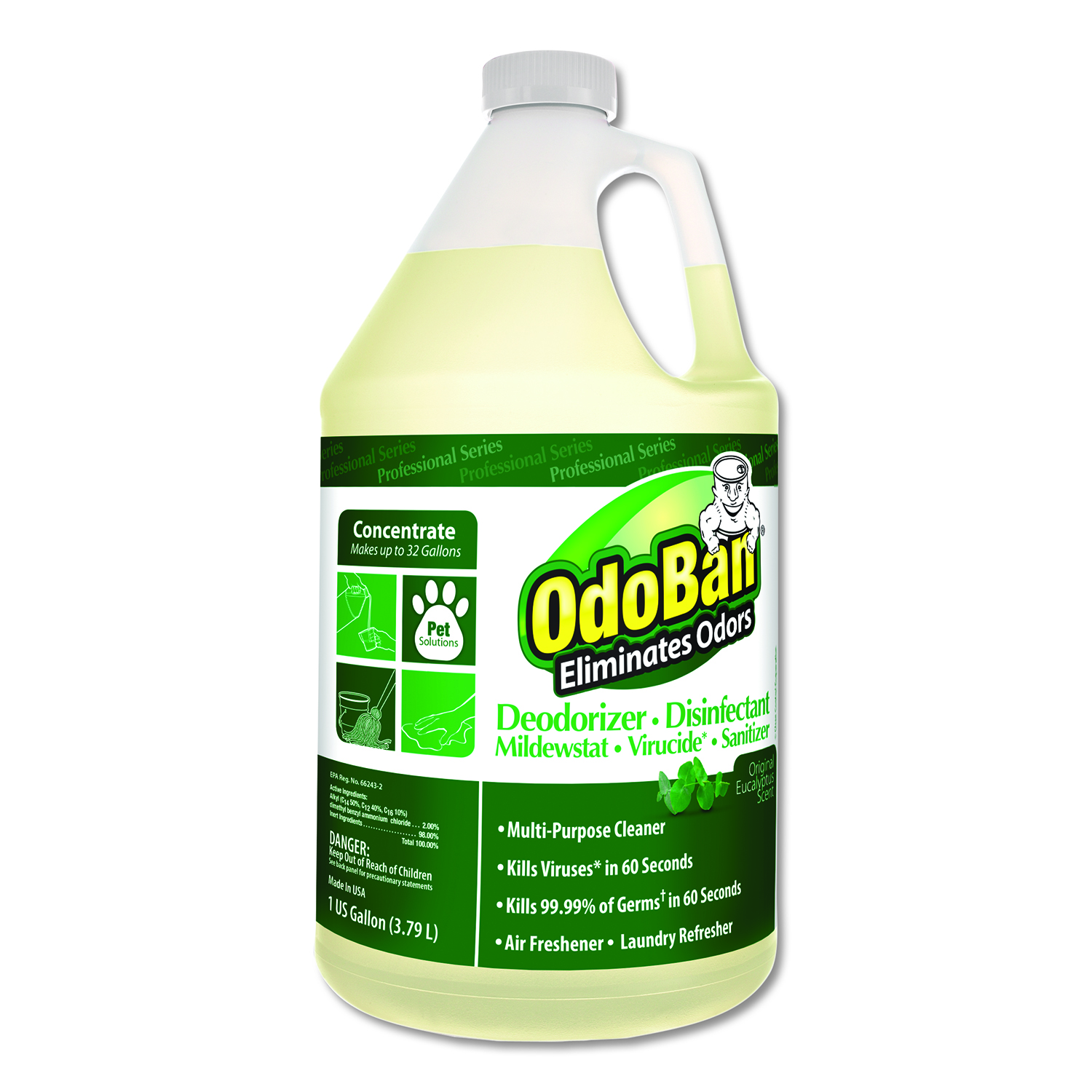 Concentrated Odor Eliminator Eucalyptus 1 Gal Bottle 4 Carton