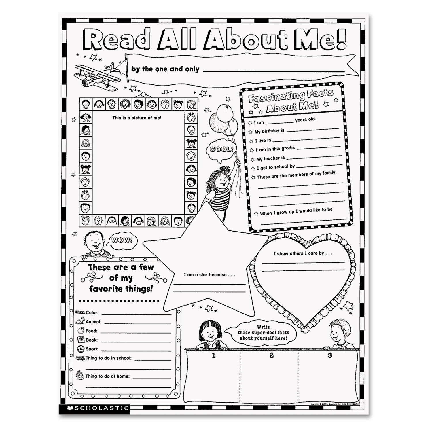 Instant Personal Poster Sets Read All About Me 17 X 22