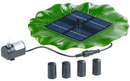 fontaine de bassin flottante solaire avec pompe et 4 buses