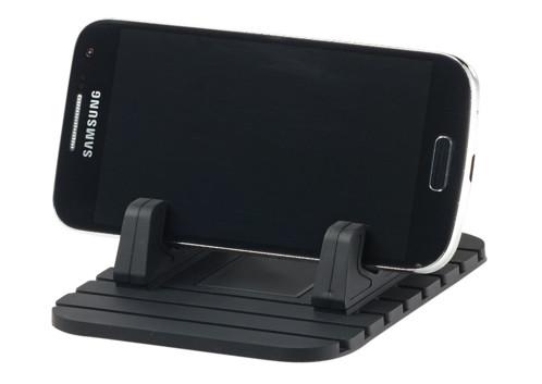support smartphone pour voiture avec tapis antiderapant pour tableau de bord