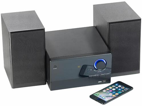 mini chaine msx 560 30 w avec lecteur cd radio fm lecteur mp3 et bluetooth