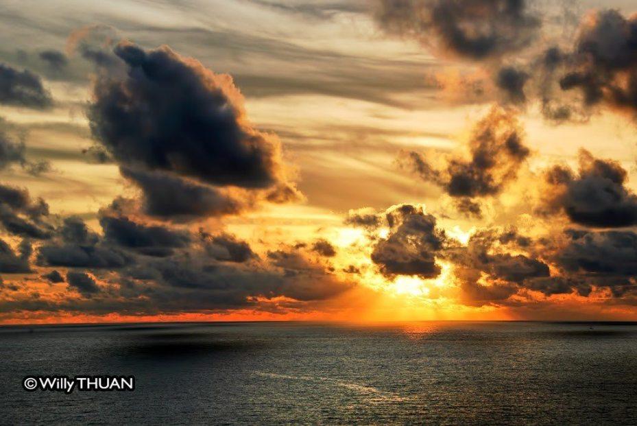 Sunset on Promthep Cape in Phuket